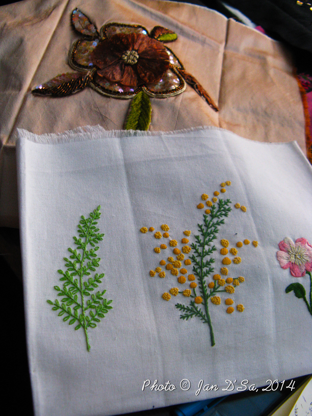 Traditional embroidery by Elisabeth Roulleau