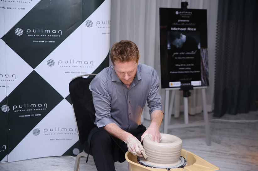 Michael Rice throws a pot live at Pullman Hotel Deira
