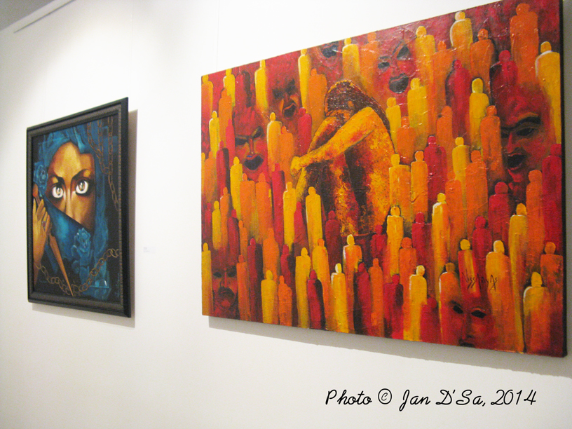 Artworks by Angie Abbas and Sonu Sultania