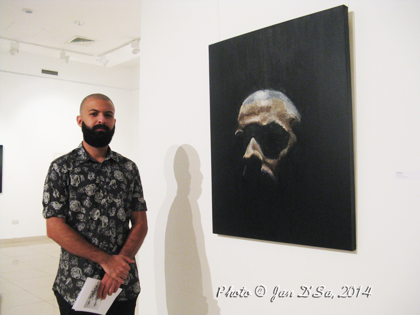 Saif Mhaisen's self portrait… and that is really him.