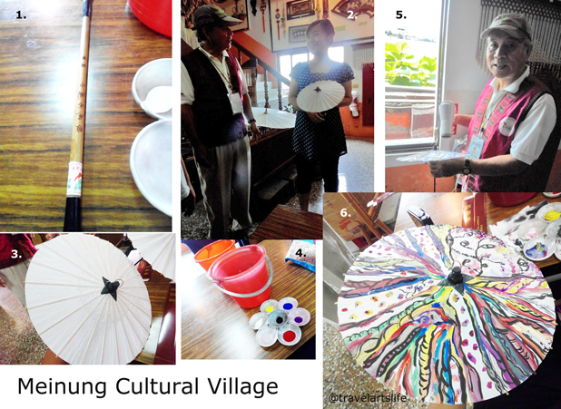 When in Meinong, paint an oil paper umbrella and pound your tea