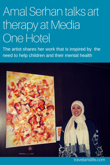 Amal Serhan talks art therapy at Media One Hotel