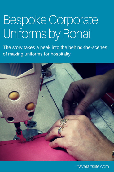 Bespoke corporate uniforms making process by Ronai